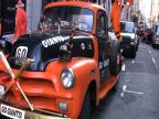 SF Giants Fan Vehicle is Curbed on Victory Day
