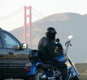 Biker at Crissy Field