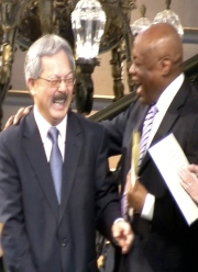 Willie Brown Congratulates Mayor Ed Lee